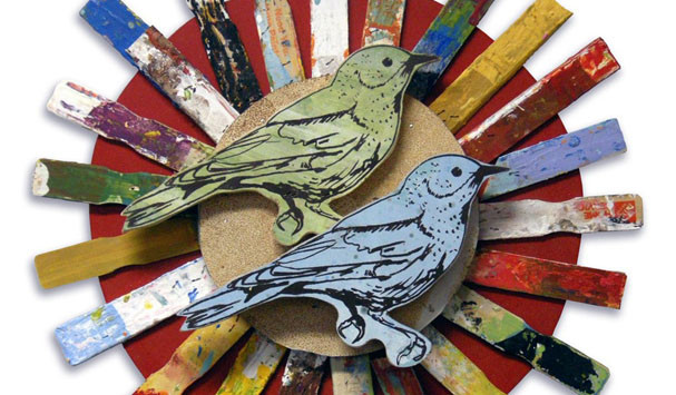 Dolan Geiman Bird Construction wall piece
